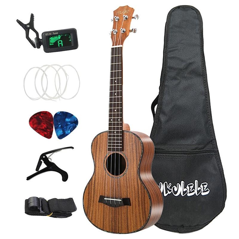 Dropship-Tenor Ukulele Set 26 Inch Acacia Wood Acoustic Ukelele 4 Strings Hawaiian Guitar Music Instrument