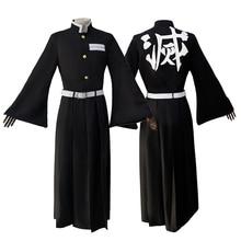 Аниме демон убийца Kimetsu no Yaiba Tokitou Muichirou Kendo униформа косплей костюм для мужчин женщин кимоно(куртка+ брюки+ ремень