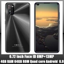 8A 4G Оперативная память + 64G Встроенная память 8MP + 13MP спереди/сзади Камера Face ID Android Глобальный смартфонов 4 ядра 6,72