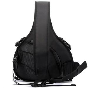 Image 5 - Bandolera triangular impermeable para fotografía para hombre y mujer, bolsa de hombro con cámara acolchada suave, bolsa de trípode informal de viaje para Digital