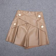 2020 Women Autumn Genuine Real Sheep Leather Shorts E71