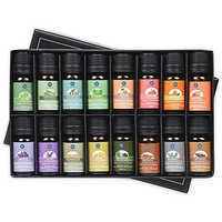 Lagunamoon 10ML juego de 16 mejores regalos difusor de aceite esencial puro humidificador masaje aromaterapia naranja menta limón naranja