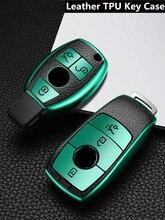 TPU cuero funda de control remoto de coche Protector de cubierta para Mercedes Benz C G M R S clase W204 W212 W176 GLC DE LA CIA GLA AMG accesorios de coche