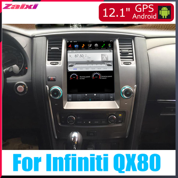 ZaiXi 12.1 inch Big screen Tesla Screen Vertical Screen Android Car PC GPS Navigation Radio Player For Infiniti QX80 2013~2018 image