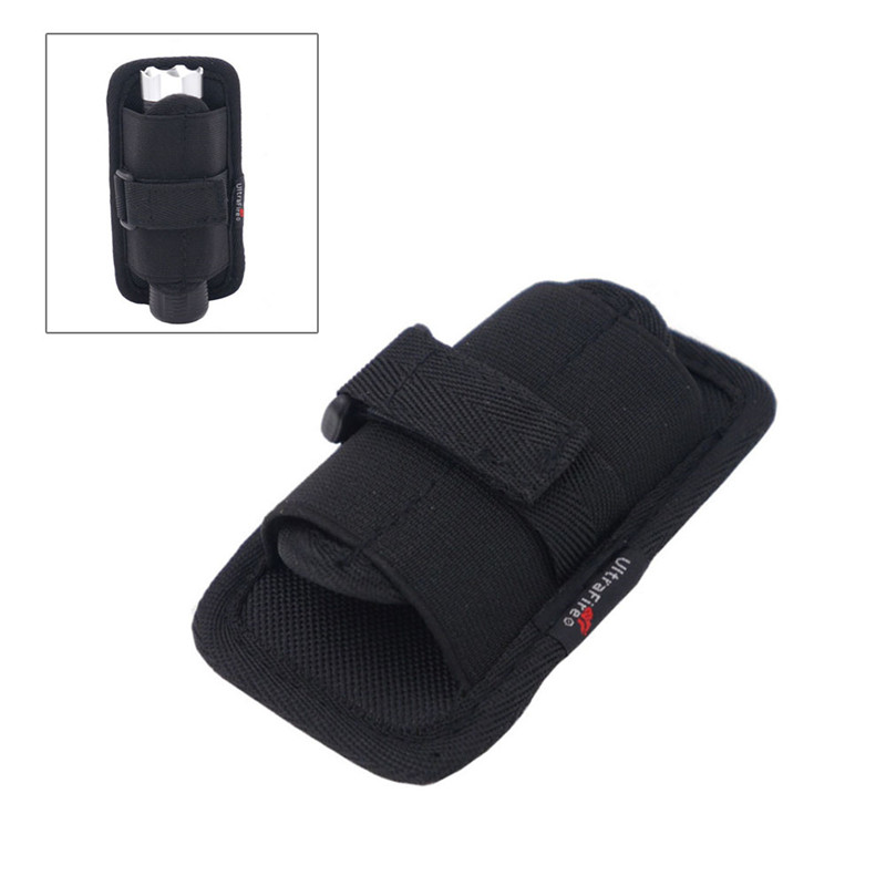 Flashlight Holster Baton Holder Nylon Duty Flashlight Holder Belt Carry Case For Tactical Flashlights