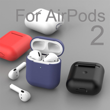 Earphone-Case Apple Airpods Soft-Silicone-Cover Wireless for 2 Bluetooth
