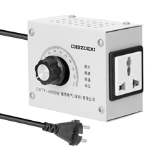 Regulador de voltaje Variable compacto, regulador de voltaje ajustable portátil de velocidad de temperatura, transformador de 220v 12v