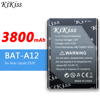 KiKiss Cell Phone Battery BAT-A12 For Acer Liquid Z520, Liquid Z520 Dual SIM (P/N BAT-A12(1ICP4/51/65) KT.00104.002) 3800mAh image