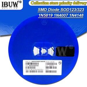 1Reel 3000PCS SMD diode 0805 SOD-123 1N5819 1N4007 1N4148 SOD123 SOD-323 1206 1N4148WS 1N5819WS B5819WS SOD323 Schottky diodes