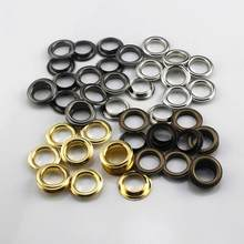Œillets en laiton avec rondelle de 14mm, 100 ensembles, anneaux ronds pour chaussures, sac, chapeau, ceinture, #1200