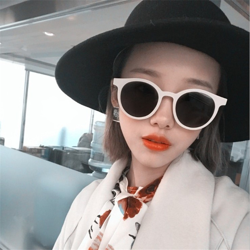 RMM Brand New Cat Eye Sunglasses Women Men Fashion Wild Round Frame Sun Glasses Design Trend Glasses