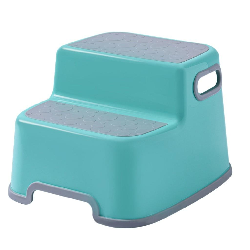 Tamborete banheiro mão lavagem banho piso duplo amortecido footstool bebê antiderrapante crianças pequena plataforma crianças móveis # g3