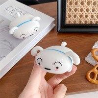 3D Cartoon Liegen Unten Weiß Hund Kopfhörer Silikon Fall Für AirPods 1 2 Pro 3 Wireless Bluetooth Headset Box Abdeckung zubehör