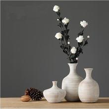 Современная белая ваза из смолы в скандинавском стиле для офиса
