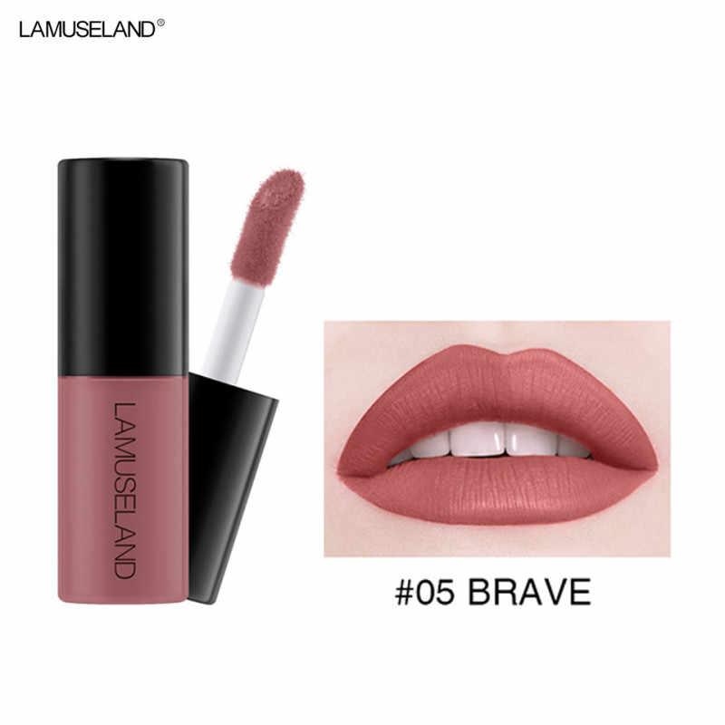Hot 12 Warna Gloss Lip Glaze Sampel Matte Tahan Lama Non-Stick Cangkir Cair Lipstik Lipgloss Seksi Kosmetik Tahan Air kecantikan