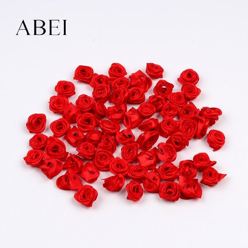 mini rose rouge artificielle 100 pieces 15mm tete de fleur en soie pour decoration de mariage scrapbook