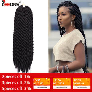 Leeons Synthetic-Hair-Extension Braids Twist-Crochet Mambo Havana Fashion 12roots Hot-Selling