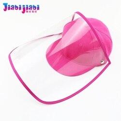 Baby Kids Hat Mask Boy Girls Protection Virus Anti-Spitting Virus Face Shield Mask Fashionable Protetor Facial Plastic Visor Cap