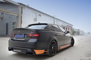 Image 3 - E90 HM Styling Carbon Fiber  Rear Roof  Lip Wing Spoiler  for BMW 2005 2012