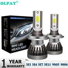 2Pcs Mini H7 LED Bulb H1 H4 H11 HB3 HB4 9005 9006 LED Car Headlight Bulbs Kit 12000LM 80W Auto Headlamp 6000K Car Lights 12V 24V cooleeon auto headlamp led light h1 h4 h7 car headlight bulbs h11 9005 9006 automotive led lamp kit 12v 24v 80w 9600lm cree leds