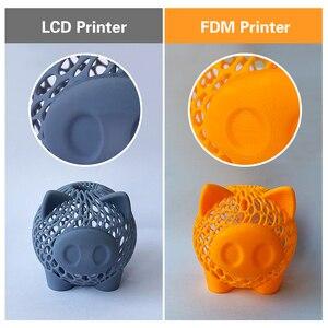 Image 5 - QIDI TECH impresora 3D de resina LCD/SLA, sombra 5.5S, carril de revestimiento de doble eje z, tamaño 120*68*150mm
