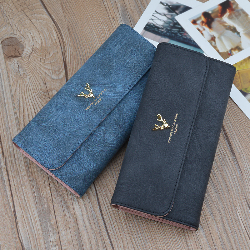 New Winter Ladies Wallet Purse Handbag Cover Type Long Soft High-capacity Hand Bag Wallet Bag Mail