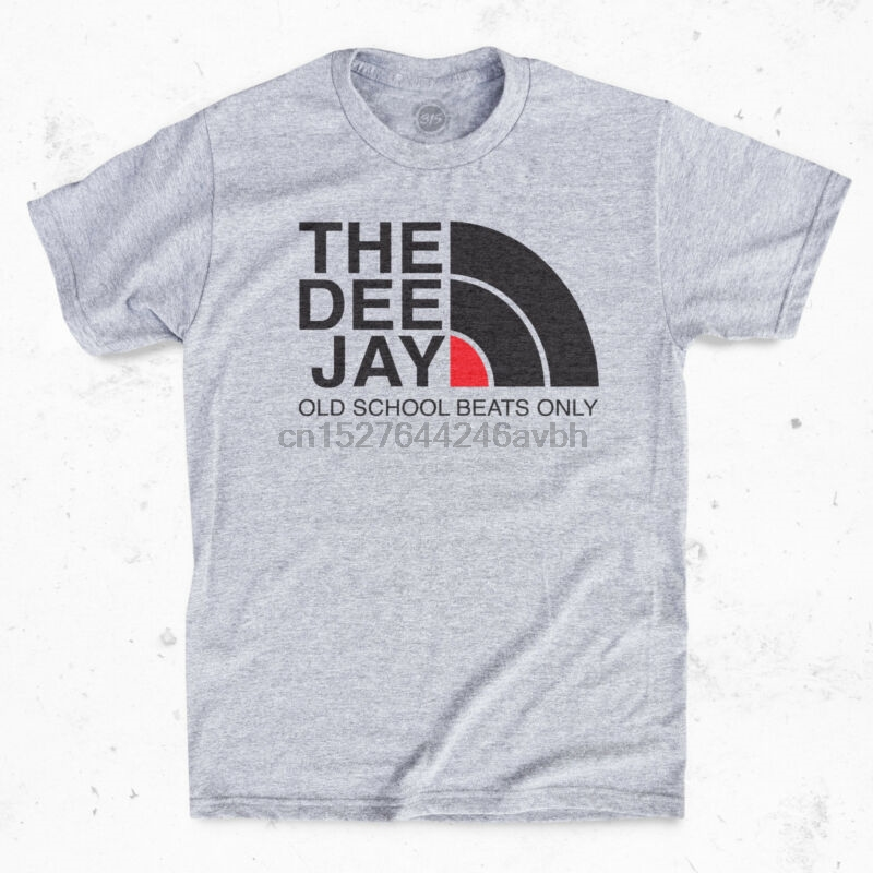 THE DEE JAY T-Shirt - Old school Vinyl Hip Hop 90s Rap Tee(China)
