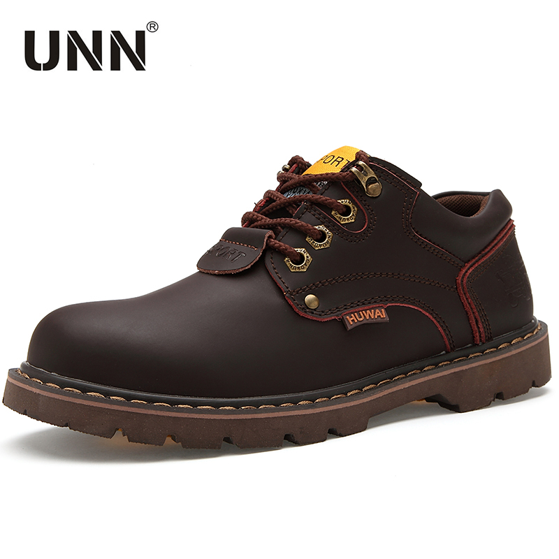 UNN Steel Toe Shoes Waterproof Shoes Safety Work Man Boots Sneakers Mans footwear Anti-slip Boots erkschoenen met stalen neus image