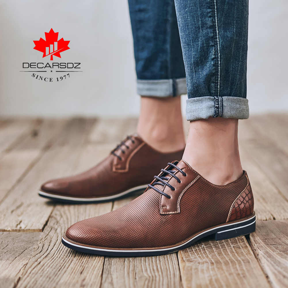 Gündelik erkek ayakkabısı 2020 sonbahar yeni moda Brogue deri ayakkabı erkekler rahat dantel-up eğlence ayakkabı açık marka erkek ayakkabıları