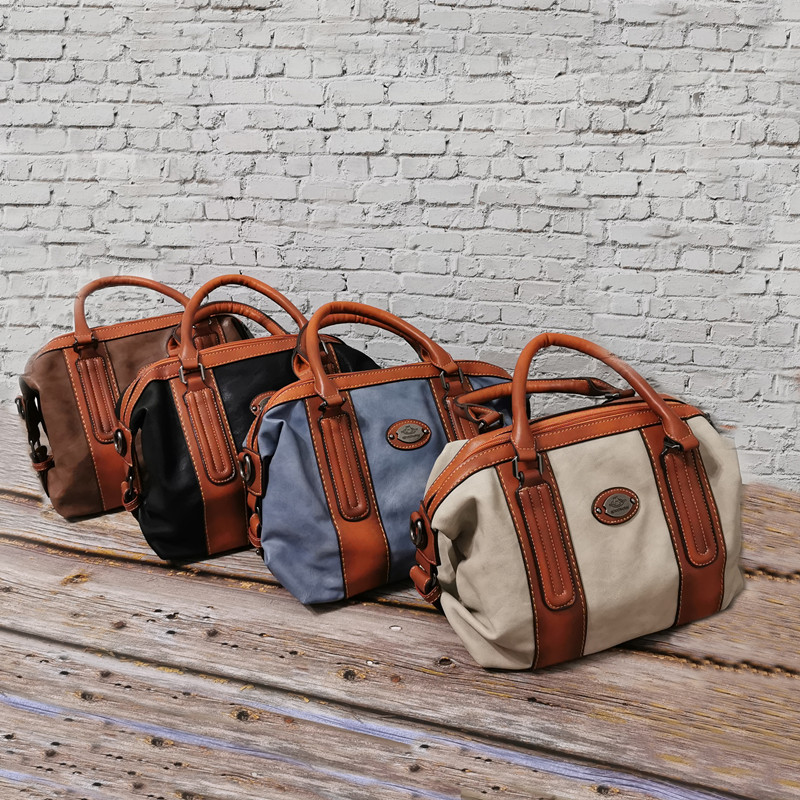 Image 2 - New Ladies Genuine Leather Shoulder Bag Large Capacity Vintage Women's Handbags Luxury Design Women Business Trip Big Tote Bags-in Top-Handle Bags from Luggage & Bags