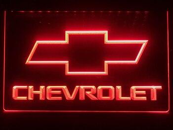 D032 CHEVROLET letrero de neón con luz LED