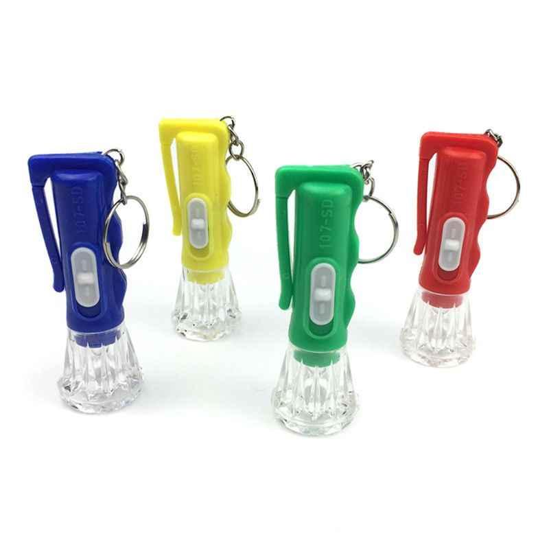 מיני פנס LED אור עד צעצועי Keychain מפלגה טובות ילדים צעצוע מתנה גאדג 'טים תיק תליון Q6PD