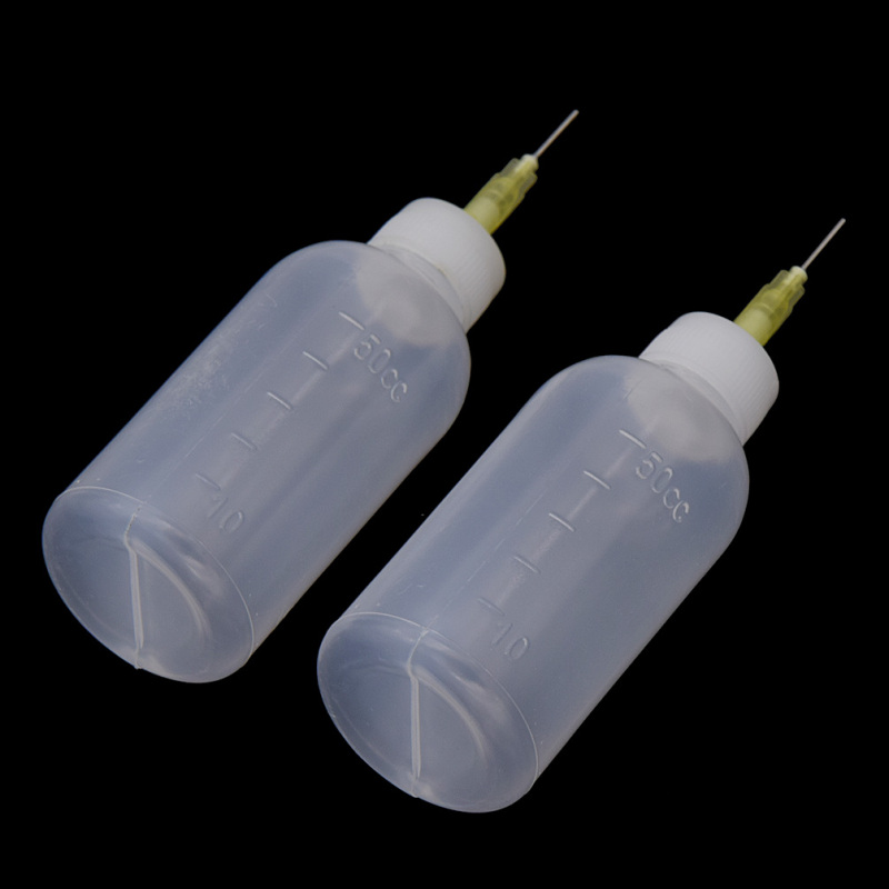 2PCS 50ml Plastic Pottery Tools Transparent Squeezing Mud Bottle Point Line Decorative DIY Craft Making Tools Accessories