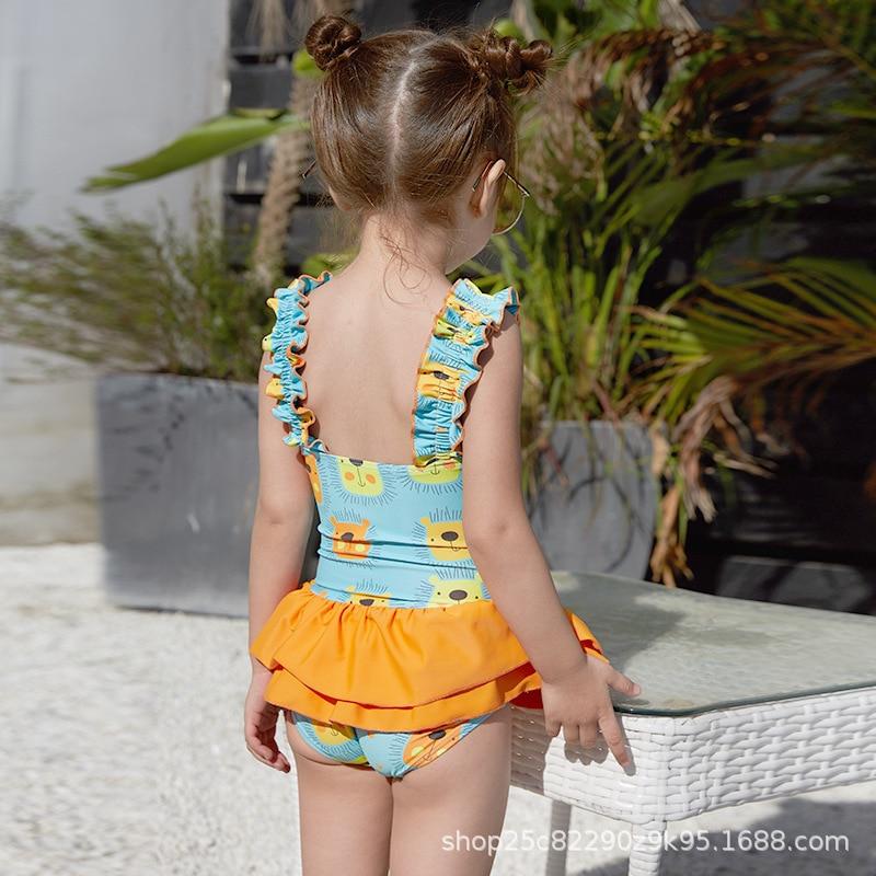 KID'S Swimwear Girls Dress-Long Sleeve Sun-resistant Beach Quick-Dry Princess Cute Big Boy Students Swimwear