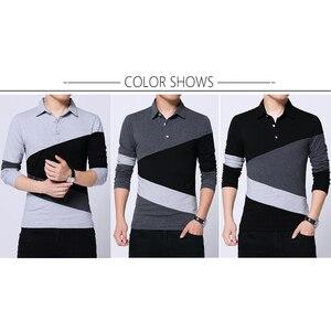 Image 4 - BROWON automne mode grande taille 5XL hommes t shirt avec col couleur Patchwork t shirt à manches longues t shirt hommes vêtements 2020