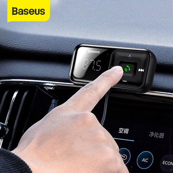 Baseus USB Car Charger FM Transmitter Bluetooth Car Kit FM Modulator 3.1A Fast Charger Handsfree Wireless Aux Audio MP3 Player 1