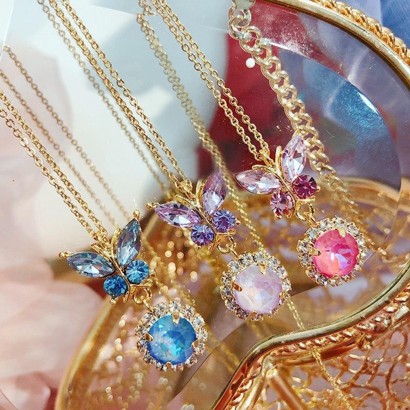 Купить женское ожерелье чокер с кристаллами в корейском стиле