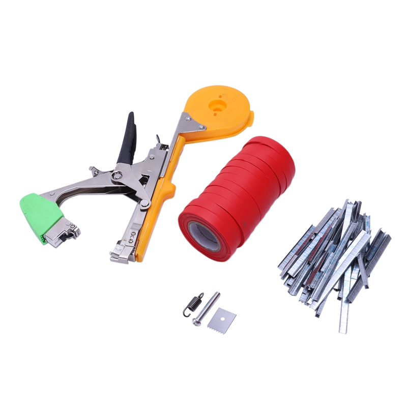GTBL Tying Machine Plant Garden Plant Bundle Tapetool Tapener With 12 Rolls Of Tape,Used For Vegetables,Grapes,Tomatoes,Cucumber