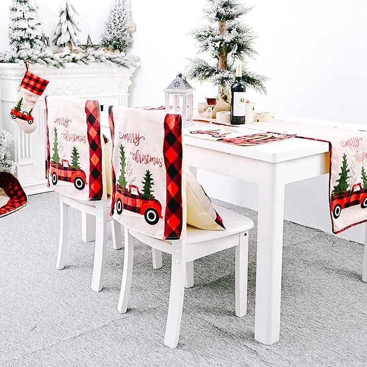 Купить клетчатая рождественская салфетка под приборы льняная скатерть