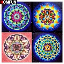 Diamond Embroidery Cross-Stitch Square Home-Decor Mandala Painting-HOMFUN Round-Drill