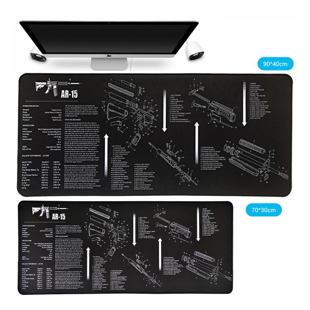 Tapis de souris en caoutchouc XXL, bord de verrouillage, tapis de bureau, Extra Large, antidérapant, pour clavier csgo