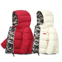 Boys Coats Jacket Clothing Down Both-Sides Girl Baby Kids Winter Camouflage Childrens'