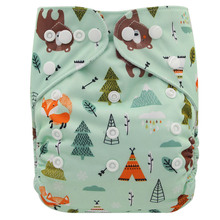 Купить с кэшбэком Cute Baby Diapers Waterproof Reusable Diaper Children Cloth Nappy Baby Nappies Training Pants For Baby Diaper Cover Washable
