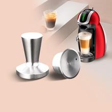 Dolce GustoโลหะแคปซูลหมวกNescafe Gusto Dolce Reusableแค็ปซูลPodสแตนเลสDolceชาร์จInoxกาแฟถ้วย