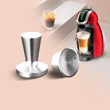 Dolce Gusto Tapón de cápsula de Metal, cápsula reutilizable de acero inoxidable, Dolce, taza de filtro de café Inox recargable