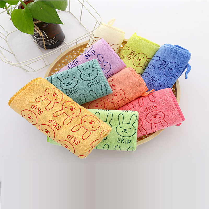Baby Towel Children Towels Baby Hand Face Towels Care Absorbent Bath Towel For Newborn Hook Soft Small Square Kids Wash Cloth
