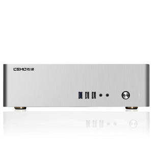 Image 4 - Aluminum Computer Case Horizontal MINI ITX HTPC Small Chassis Color  Black Silver Gold Support 1U Power Size 150 x 80 x 40 mm