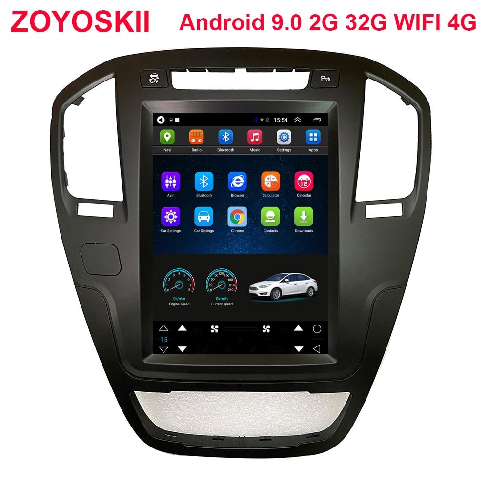 ZOYOSKII Android 9.0 10.4 Inch Car Gps Multimedia Radio Bluetooth Navigation Player For Opel Insignia 2009-2013