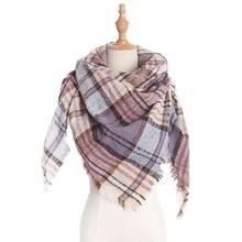 Модный Теплый Женский Шарф кашемировые зимние шарфы качественная