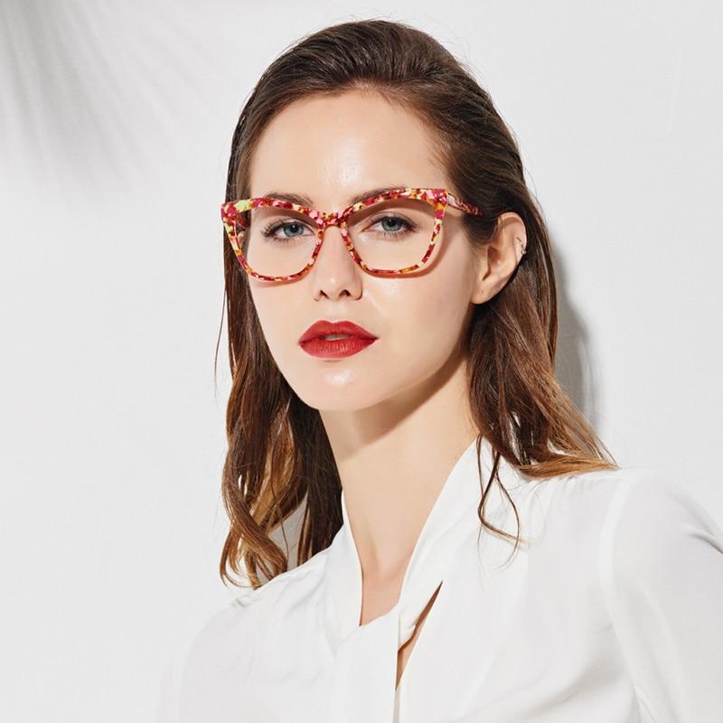 SASAMIA Eye Glasses Frame Women Eyeglasses Clear Prescription Spectacles Optical Frames Acetate Myopia Eyewear